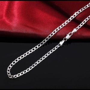 "925 Silver Curb Link Chain 4mm 24"""